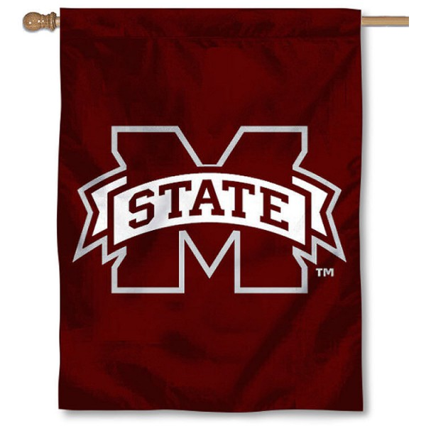 Mississippi State University House Flag is a vertical house flag which measures 30x40 inches, is made of 2 ply 100% polyester, offers dye sublimated NCAA team insignias, and has a top pole sleeve to hang vertically. Our Mississippi State University House Flag is officially licensed by the selected university and the NCAA