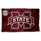 Mississippi State University SEC Logo Flag