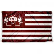 Mississippi State University Striped Flag