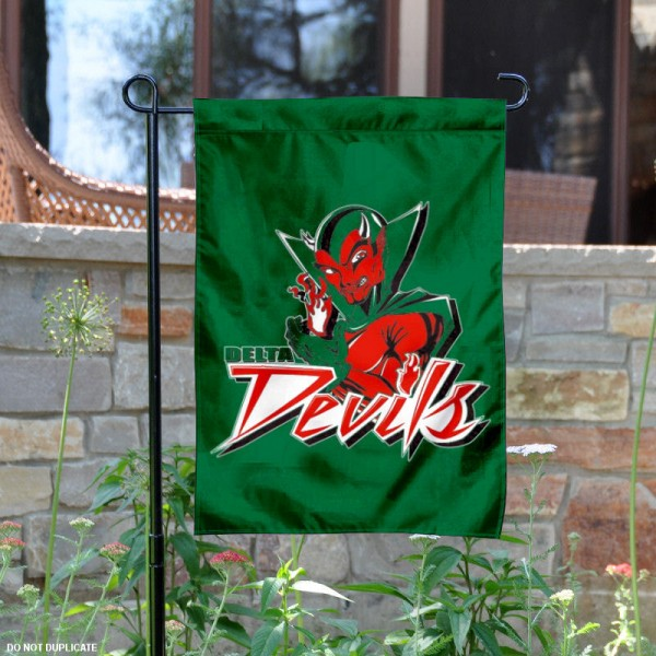 Mississippi Valley State Garden Flag is 13x18 inches in size, is made of 2-layer polyester, screen printed MVSU Delta Devils athletic logos and lettering. Available with Same Day Express Shipping, Our Mississippi Valley State Garden Flag is officially licensed and approved by MVSU Delta Devils and the NCAA.