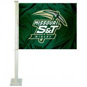 Missouri Miners Logo Car Flag