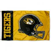 Missouri Mizzou Tigers Football Helmet Flag