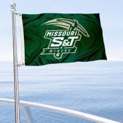 Missouri S&T Miners Boat and Mini Flag