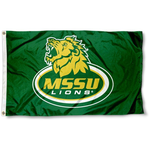 Missouri Southern State Logo Outdoor Flag measures 3'x5', is made of 100% poly, has quadruple stitched sewing, two metal grommets, and has double sided MSSU logos. Our MSSU Logo Outdoor Flag is officially licensed by the selected university and the NCAA.