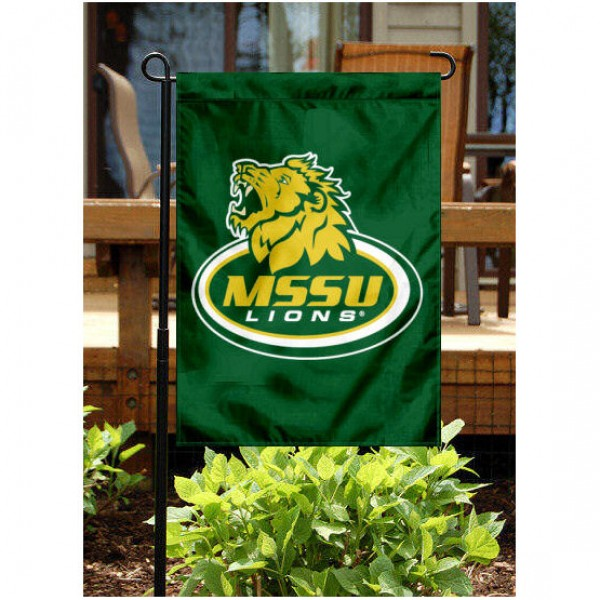 Missouri Southern State University Garden Flag is 13x18 inches in size, is made of 2-layer polyester, screen printed Missouri Southern State University athletic logos and lettering. Available with Same Day Express Shipping, Our Missouri Southern State University Garden Flag is officially licensed and approved by Missouri Southern State University and the NCAA.