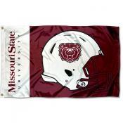 Missouri State Bears Football Helmet Flag