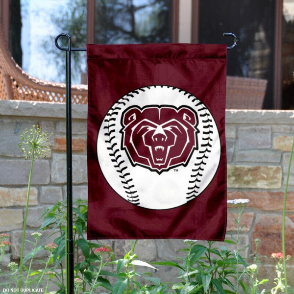 Missouri State University Baseball Garden Flag is 13x18 inches in size, is made of 2-layer polyester, screen printed Missouri State University Baseball athletic logos and lettering. Available with Express Shipping, Our Missouri State University Baseball Garden Flag is officially licensed and approved by Missouri State University Baseball and the NCAA.