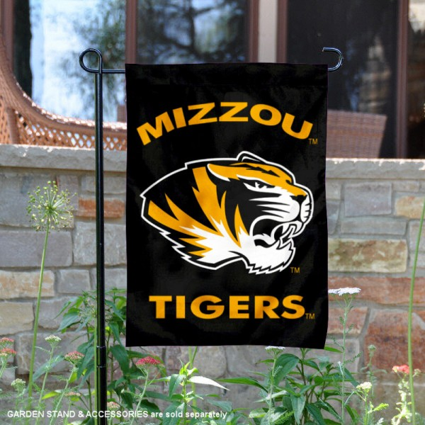 Missouri Tigers Black Garden Flag is 13x18 inches in size, is made of 2-layer polyester, screen printed university athletic logos and lettering, and is readable and viewable correctly on both sides. Available same day shipping, our Missouri Tigers Black Garden Flag is officially licensed and approved by the university and the NCAA.
