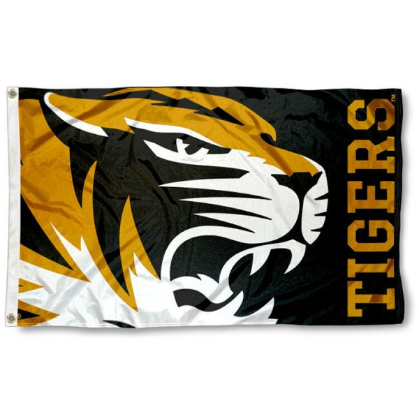 Missouri Tigers Bold Flag is made of 100% nylon, offers quad stitched flyends, measures 3x5 feet, has two metal grommets, and is viewable from both side with the opposite side being a reverse image. Our Missouri Tigers Bold Flag is officially licensed by the selected college and NCAA