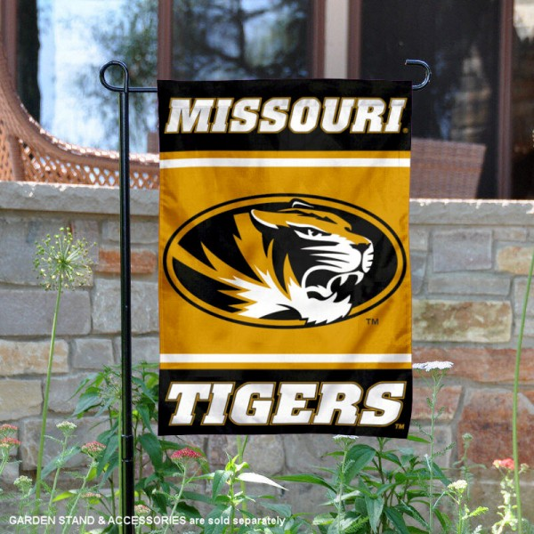 Missouri Tigers Garden Flag is 13x18 inches in size, is made of 2-layer polyester, screen printed logos and lettering. Available with Same Day Express Shipping, Our Missouri Tigers Garden Flag is officially licensed and approved by the NCAA.