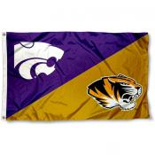 Missouri vs. Kansas State House Divided 3x5 Flag