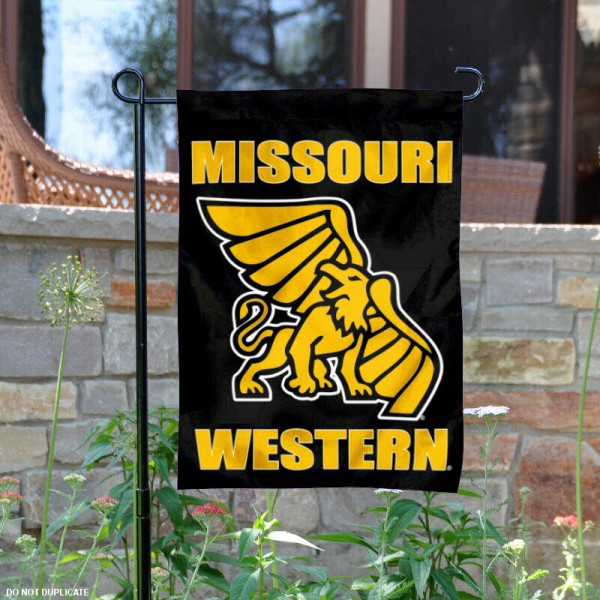 Missouri Western State Griffons Garden Flag is 13x18 inches in size, is made of 2-layer polyester, screen printed Missouri Western State Griffons athletic logos and lettering. Available with Same Day Express Shipping, Our Missouri Western State Griffons Garden Flag is officially licensed and approved by Missouri Western State Griffons and the NCAA.