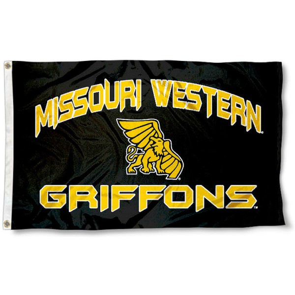 Missouri Western State University Flag measures 3'x5', is made of 100% poly, has quadruple stitched sewing, two metal grommets, and has double sided Team University logos. Our Missouri Western State University Flag is officially licensed by the selected university and the NCAA.