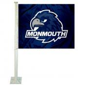 Monmouth Hawks Logo Car Flag