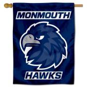 Monmouth Hawks Logo Double Sided House Flag
