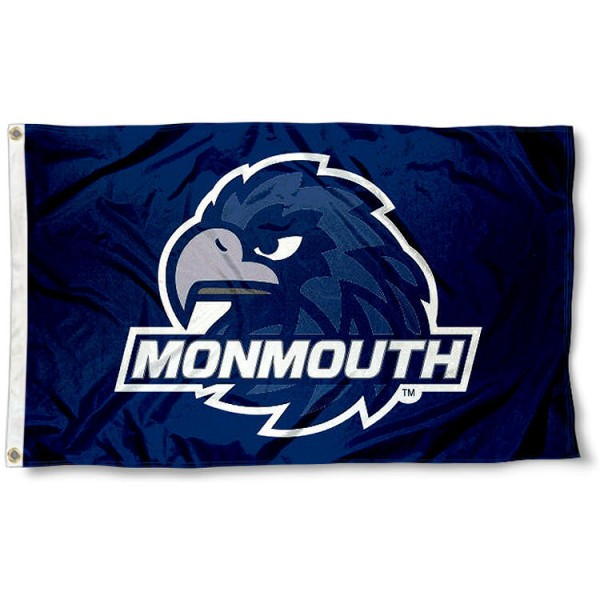 Monmouth Hawks New Logo Flag measures 3x5 feet, is made of 100% polyester, offers quadruple stitched flyends, has two metal grommets, and offers screen printed NCAA team logos and insignias. Our Monmouth Hawks New Logo Flag is officially licensed by the selected university and NCAA.