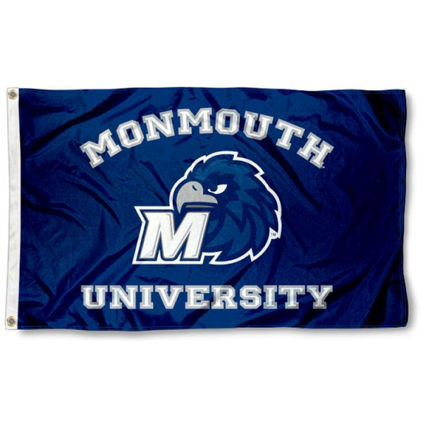 Monmouth Hawks Wordmark Flag is made of 100% nylon, offers quad stitched flyends, measures 3x5 feet, has two metal grommets, and is viewable from both side with the opposite side being a reverse image. Our Monmouth Hawks Wordmark Flag is officially licensed by the selected college and NCAA
