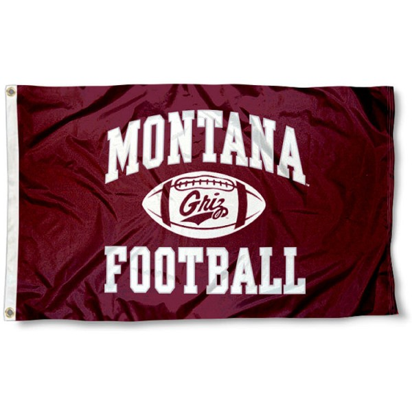 Montana Griz College Football 3x5 Flag measures 3'x5', is made of 100% poly, has quadruple stitched sewing, two metal grommets, and has double sided Team University logos. Our Montana Griz College Football 3x5 Flag is officially licensed by the selected university and the NCAA.