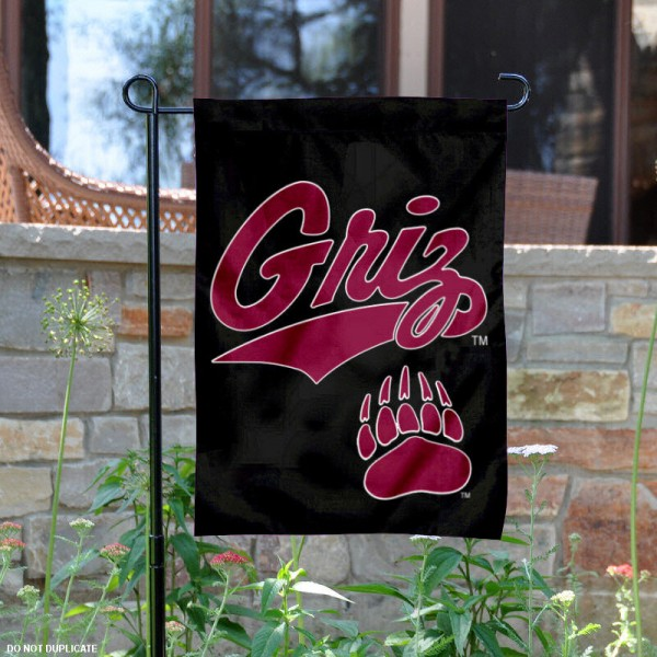 Montana Griz Garden Flag is 13x18 inches in size, is made of 2-layer polyester, screen printed Montana Griz athletic logos and lettering. Available with Same Day Express Shipping, Our Montana Griz Garden Flag is officially licensed and approved by Montana Griz and the NCAA.