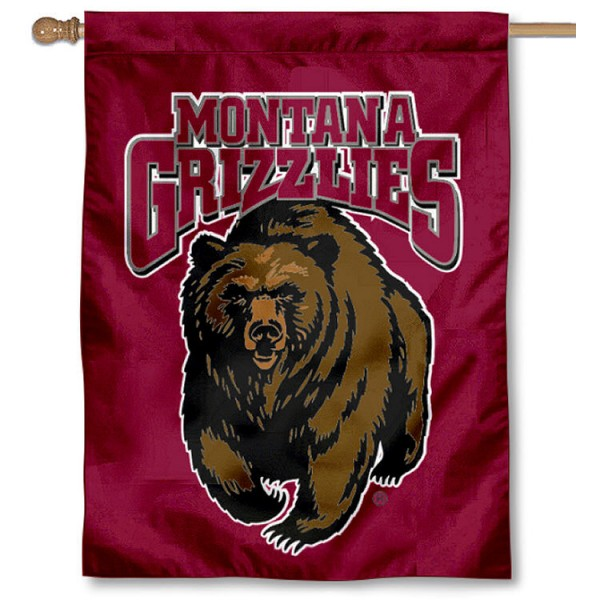 Montana Griz House Flag is a vertical house flag which measures 30x40 inches, is made of 2 ply 100% polyester, offers dye sublimated NCAA team insignias, and has a top pole sleeve to hang vertically. Our Montana Griz House Flag is officially licensed by the selected university and the NCAA.