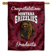Montana Grizzlies Congratulations Graduate Flag