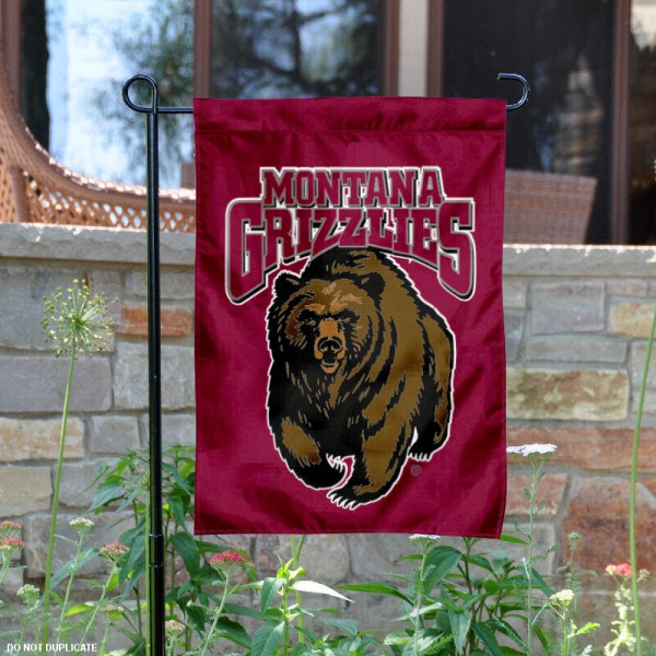 Montana Grizzlies Garden Flag is 13x18 inches in size, is made of 2-layer polyester, screen printed Montana Grizzlies athletic logos and lettering. Available with Same Day Express Shipping, Our Montana Grizzlies Garden Flag is officially licensed and approved by Montana Grizzlies and the NCAA.
