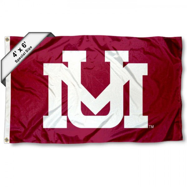 Montana Grizzlies Large 4x6 Flag measures 4x6 feet, is made thick woven polyester, has quadruple stitched flyends, two metal grommets, and offers screen printed NCAA Montana Grizzlies Large athletic logos and insignias. Our Montana Grizzlies Large 4x6 Flag is officially licensed by Montana Grizzlies and the NCAA.