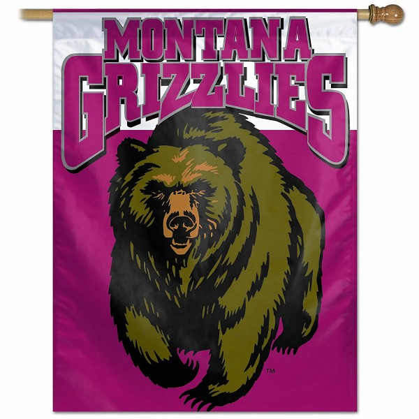 Montana Grizzlies Polyester House Flag is constructed of polyester material, is a vertical house flag, measures 27x37 inches, offers screen printed NCAA team insignias, and has a top pole sleeve to hang vertically. Our Montana Grizzlies Polyester House Flag is officially licensed by the selected university and NCAA.