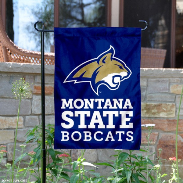 Montana State Bobcats Garden Flag is 13x18 inches in size, is made of 2-layer polyester, screen printed MSU Bobcats athletic logos and lettering. Available with Same Day Express Shipping, Our Montana State Bobcats Garden Flag is officially licensed and approved by MSU Bobcats and the NCAA.