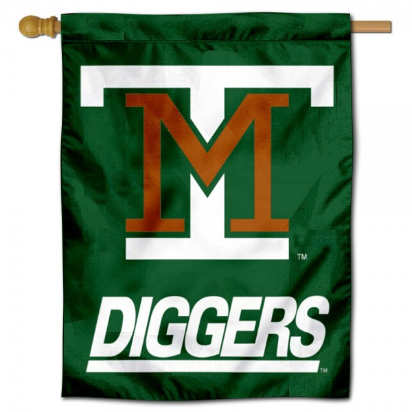 Montana Tech Diggers Double Sided House Flag is a vertical house flag which measures 30x40 inches, is made of 2 ply 100% polyester, offers screen printed NCAA team insignias, and has a top pole sleeve to hang vertically. Our Montana Tech Diggers Double Sided House Flag is officially licensed by the selected university and the NCAA.