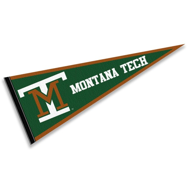 Montana Tech Diggers Pennant consists of our full size sports pennant which measures 12x30 inches, is constructed of felt, is single sided imprinted, and offers a pennant sleeve for insertion of a pennant stick, if desired. This Montana Tech Diggers Pennant Decorations is Officially Licensed by the selected university and the NCAA.