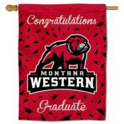 Montana Western Bulldogs Congratulations Graduate Flag