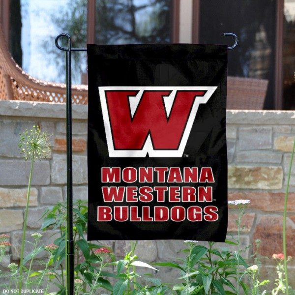 Montana Western UMW Bulldogs Garden Flag is 13x18 inches in size, is made of 2-layer polyester, screen printed University of Montana Western athletic logos and lettering. Available with Same Day Express Shipping, Our Montana Western UMW Bulldogs Garden Flag is officially licensed and approved by University of Montana Western and the NCAA.