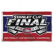 Montreal Canadiens 2021 Stanley Cup Semifinals Champions Flag