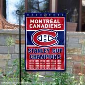 Montreal Canadiens 24 Time Stanley Cup Champions Garden Flag