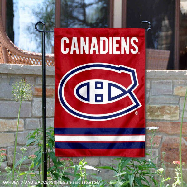 Montreal Canadiens Garden Flag is 12.5x18 inches in size, is made of 2-ply polyester, and has two sided screen printed logos and lettering. Available with Express Next Day Ship, our Montreal Canadiens Garden Flag is NHL Officially Licensed and is double sided.