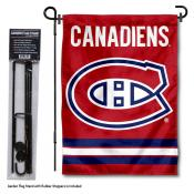 Montreal Canadiens Garden Flag and Flagpole Stand