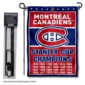 Montreal Canadiens Stanley Cup Champions Garden Banner and Flagpole Holder Stand