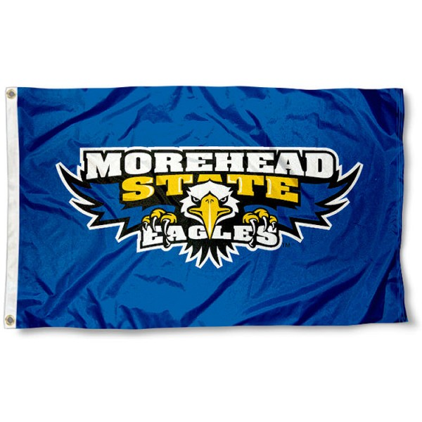 Morehead State University Flag measures 3'x5', is made of 100% poly, has quadruple stitched sewing, two metal grommets, and has double sided Team University logos. Our Morehead State University Flag is officially licensed by the selected university and the NCAA.