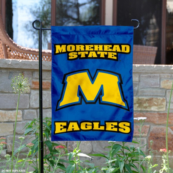 Morehead State University Garden Flag is 13x18 inches in size, is made of 2-layer polyester, screen printed Morehead State University athletic logos and lettering. Available with Same Day Express Shipping, Our Morehead State University Garden Flag is officially licensed and approved by Morehead State University and the NCAA.