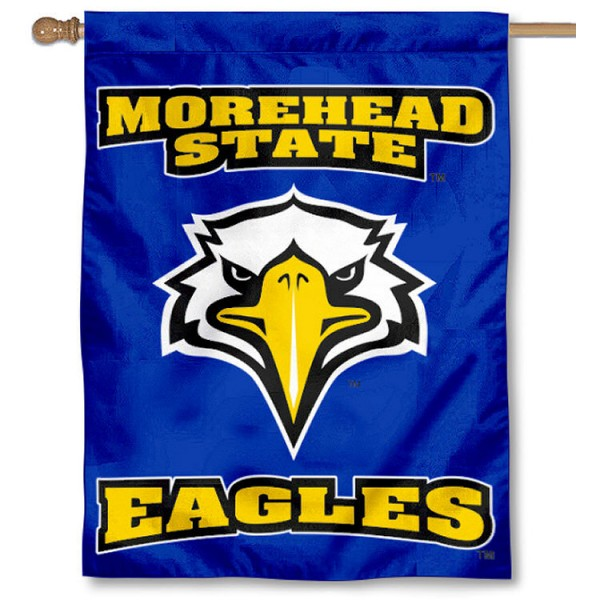Morehead State University House Flag is a vertical house flag which measures 30x40 inches, is made of 2 ply 100% polyester, offers dye sublimated NCAA team insignias, and has a top pole sleeve to hang vertically. Our Morehead State University House Flag is officially licensed by the selected university and the NCAA