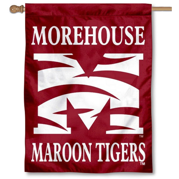 Morehouse Maroon Tigers Banner Flag is a vertical house flag which measures 30x40 inches, is made of 2 ply 100% polyester, offers dye sublimated NCAA team insignias, and has a top pole sleeve to hang vertically. Our Morehouse Maroon Tigers Banner Flag is officially licensed by the selected university and the NCAA.