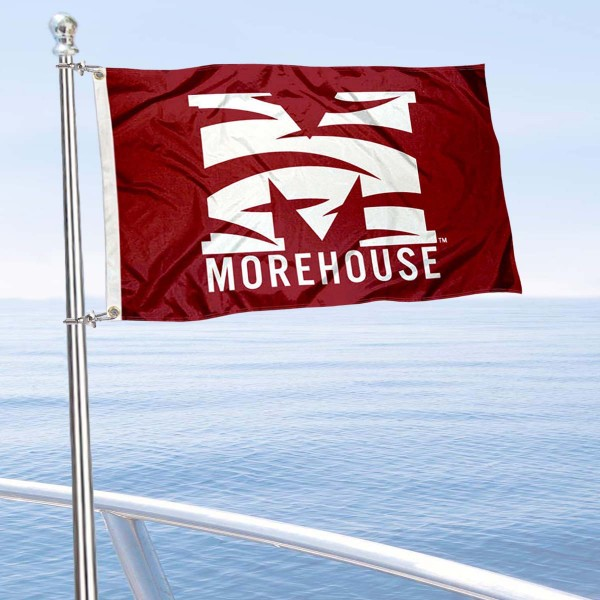 Morehouse Maroon Tigers Boat and Mini Flag is 12x18 inches, polyester, offers quadruple stitched flyends for durability, has two metal grommets, and is double sided. Our mini flags for Morehouse College are licensed by the university and NCAA and can be used as a boat flag, motorcycle flag, golf cart flag, or ATV flag.