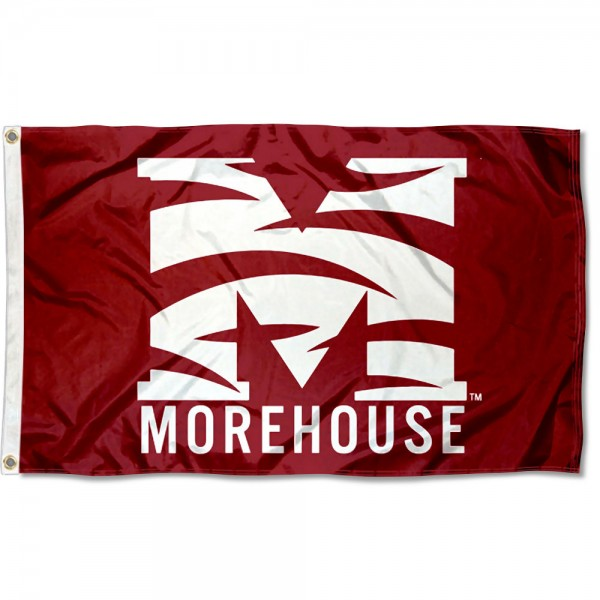 Morehouse Maroon Tigers Flag measures 3x5 feet, is made of 100% polyester, offers quadruple stitched flyends, has two metal grommets, and offers screen printed NCAA team logos and insignias. Our Morehouse Maroon Tigers Flag is officially licensed by the selected university and NCAA.