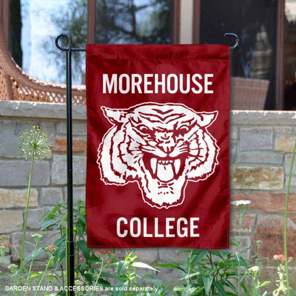 Morehouse Maroon Tigers Garden Flag is 13x18 inches in size, is made of 2-layer polyester, screen printed university athletic logos and lettering, and is readable and viewable correctly on both sides. Available same day shipping, our Morehouse Maroon Tigers Garden Flag is officially licensed and approved by the university and the NCAA.