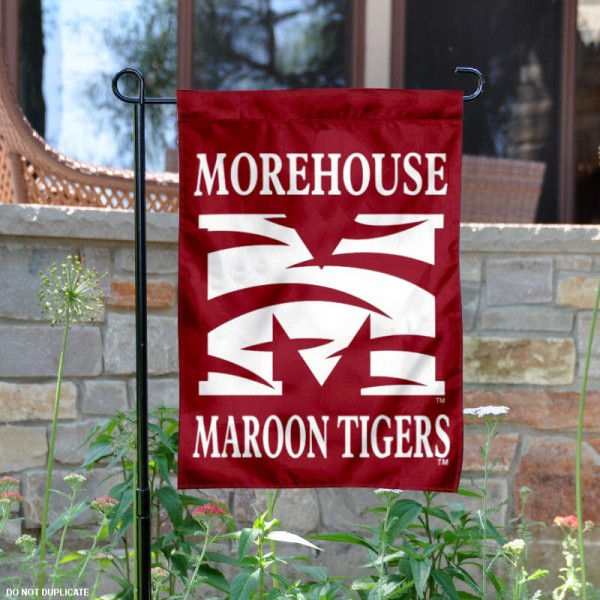Morehouse Maroon Tigers Garden Flag is 13x18 inches in size, is made of 2-layer polyester, screen printed Morehouse College athletic logos and lettering. Available with Same Day Express Shipping, Our Morehouse Maroon Tigers Garden Flag is officially licensed and approved by Morehouse College and the NCAA.