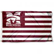 Morehouse Maroon Tigers Stripes Flag