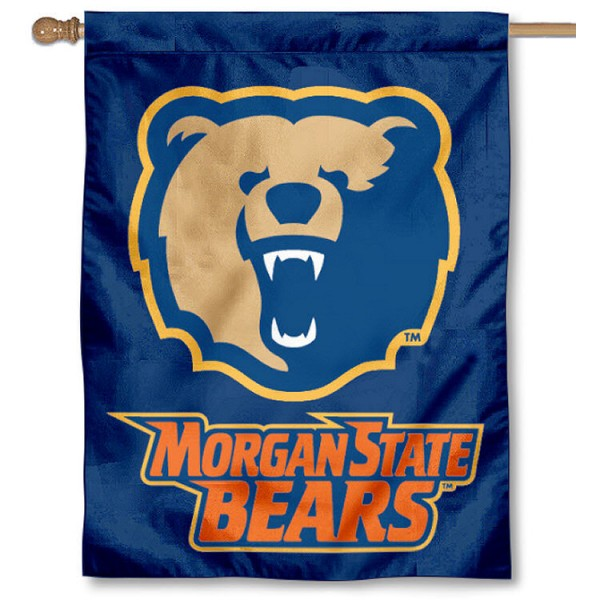 Morgan State MSU Bears House Flag is a vertical house flag which measures 30x40 inches, is made of 2 ply 100% polyester, offers dye sublimated NCAA team insignias, and has a top pole sleeve to hang vertically. Our Morgan State MSU Bears House Flag is officially licensed by the selected university and the NCAA.