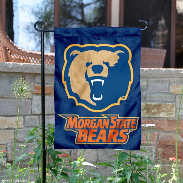 Morgan State University Garden Flag is 13x18 inches in size, is made of 2-layer polyester, screen printed Morgan State University athletic logos and lettering. Available with Same Day Express Shipping, Our Morgan State University Garden Flag is officially licensed and approved by Morgan State University and the NCAA.