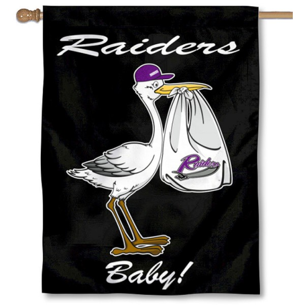 Mount Union Raiders New Baby Flag measures 30x40 inches, is made of poly, has a top hanging sleeve, and offers dye sublimated Mount Union Raiders logos. This Decorative Mount Union Raiders New Baby House Flag is officially licensed by the NCAA.